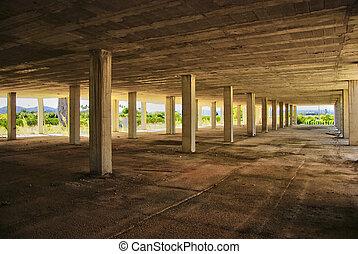 Abandoned modern construction