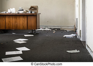 Abandoned Office in a Mess