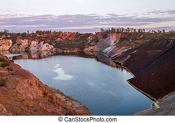 Abandoned old copper extraction mine