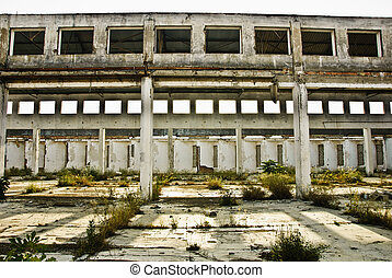 Abandoned old factory of building