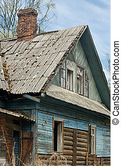 Abandoned old house, a vertical picture
