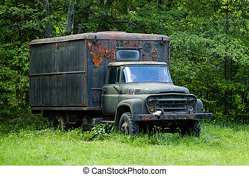 abandoned old truck