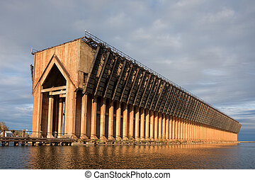 Abandoned Ore Dock on Lake Superior - Marquette Michigan -...
