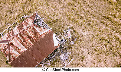 Abandoned outback farming shed in Queensland