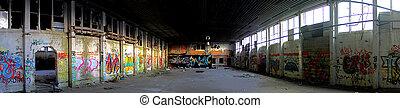Abandoned Place With Graffiti