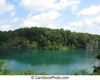 Abandoned quarry - An abandoned quarry filled with...