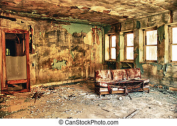 Abandoned room in the factory