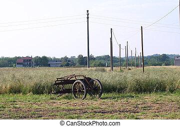abandoned rural machinery