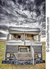Abandoned RV in a Utah Ghost Town