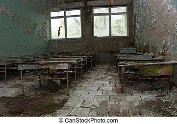 Abandoned school - Chernobyl disaster results. This is ...