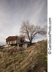 abandoned shack cabin house home wood structure grunge weathered