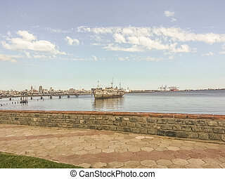 Abandoned Ship in Montevideo Port
