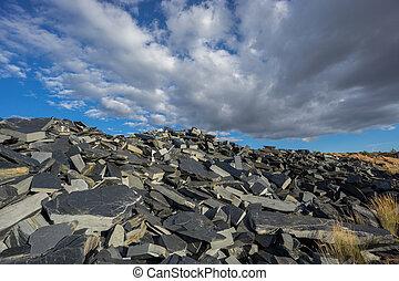 Abandoned slate mine