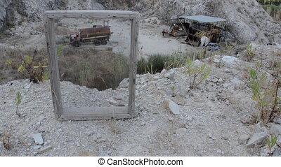Abandoned strange marble quarry