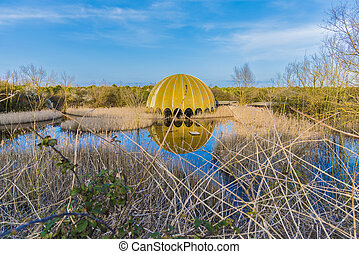 Abandoned structure (old discoteque) Italy, Cervia -...