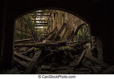 Old abandoned sugar mill located at Villanova Marchesana in Italy.