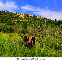 Abandoned Tractor Near Montepulciano - Old abandoned tractor...