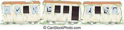 Abandoned Train Illustration