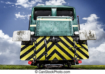 abandoned train, locomotive clouds on sky