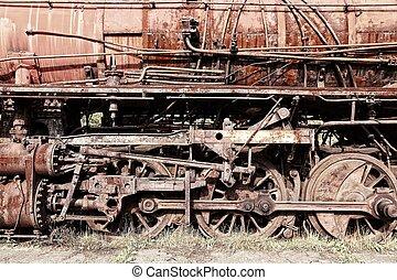 Abandoned train