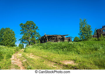 Abandoned village of Pavlovo in the Kostroma region. - An...