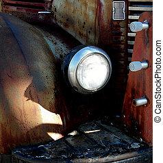 Abandoned vintage truck.
