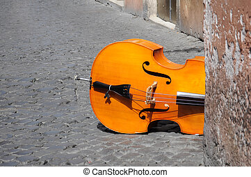 abandoned violin