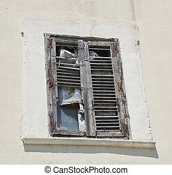 Abandoned window.