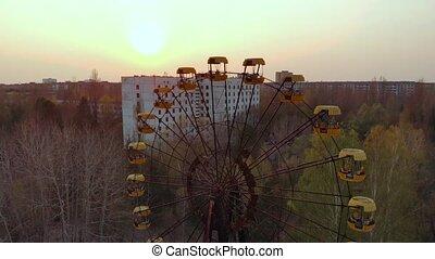 abandonné, parc ville, amusement, pripyat.