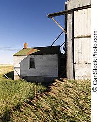 abandonnés, bâtiment.