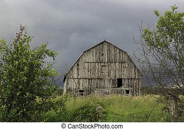 abandonnés, grange