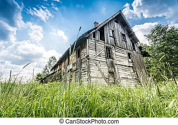 abandonnés, maison bois