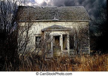 abandonnés, maison ferme