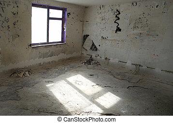 abandonnés, salle vide