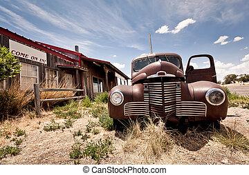 abandonnés,  USA,  restaraunt, parcours,  66, route