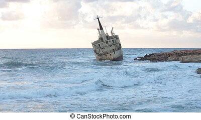 abandonnés, vieux, ou, naufrage