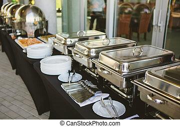 abastecimiento, alimento, boda