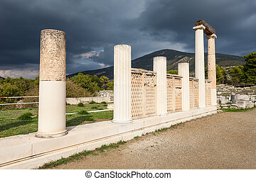 abaton, の, epidaurus, ギリシャ
