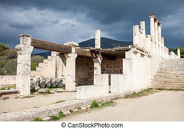 abaton, 在中, epidaurus, 希腊