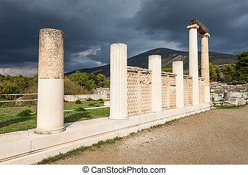 abaton, van, epidaurus, griekenland