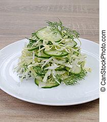 ?abbage, salade, concombre