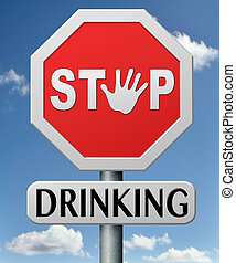 abbahagy, ivás