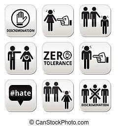 abbahagy, megkülönböztetés, közül, férfiak, és, wom
