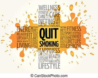 abbahagy, szó, felhő, dohányzó