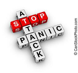 abbahagy, támad, pánik