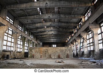 abbandonato, industriale, interno