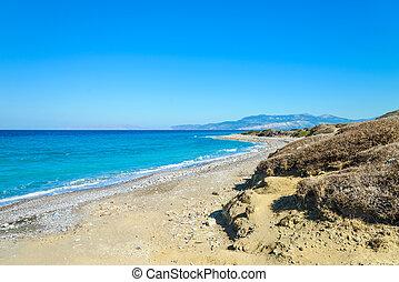 abbandonato, spiaggia, mare