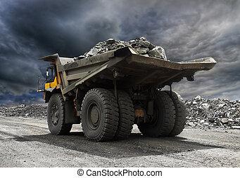 abbauenden lastwagen