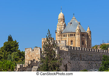 Abbey of Dormition in Jerusalem, Israel.