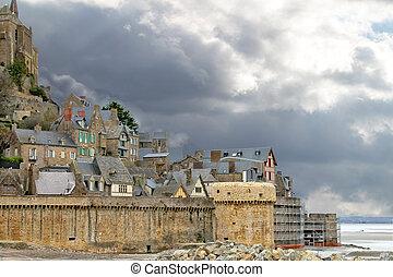 Abbey of Mont Saint Michel. Normandy, France
